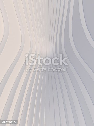 921696186 istock photo Wave band abstract background surface 3d rendering 695216104