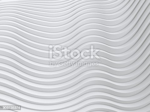 921696186 istock photo Wave band abstract background surface 3d rendering 903735374