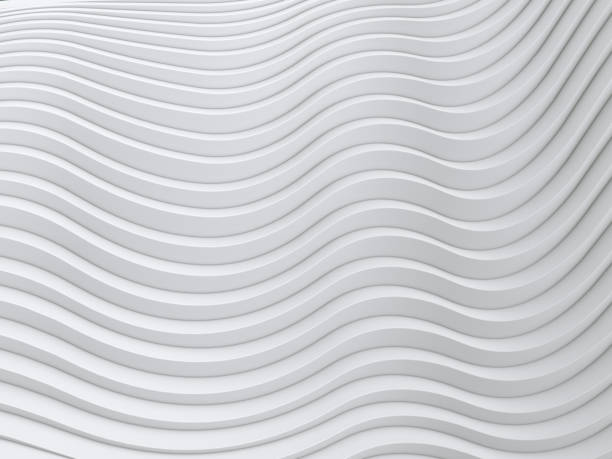 wave band abstract background surface 3d rendering - wave pattern stock photos and pictures