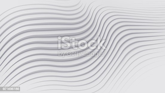 istock Wave band abstract background surface 3d rendering 921696186