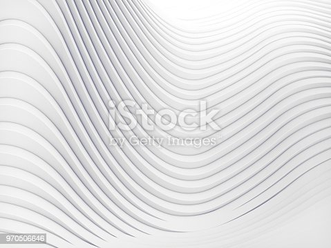 921696186 istock photo Wave band abstract background surface 3d rendering 970506646