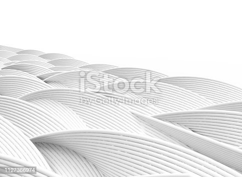 istock Wave band abstract background surface 1127366974