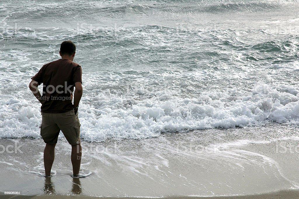 Ola-Playa foto de stock libre de derechos