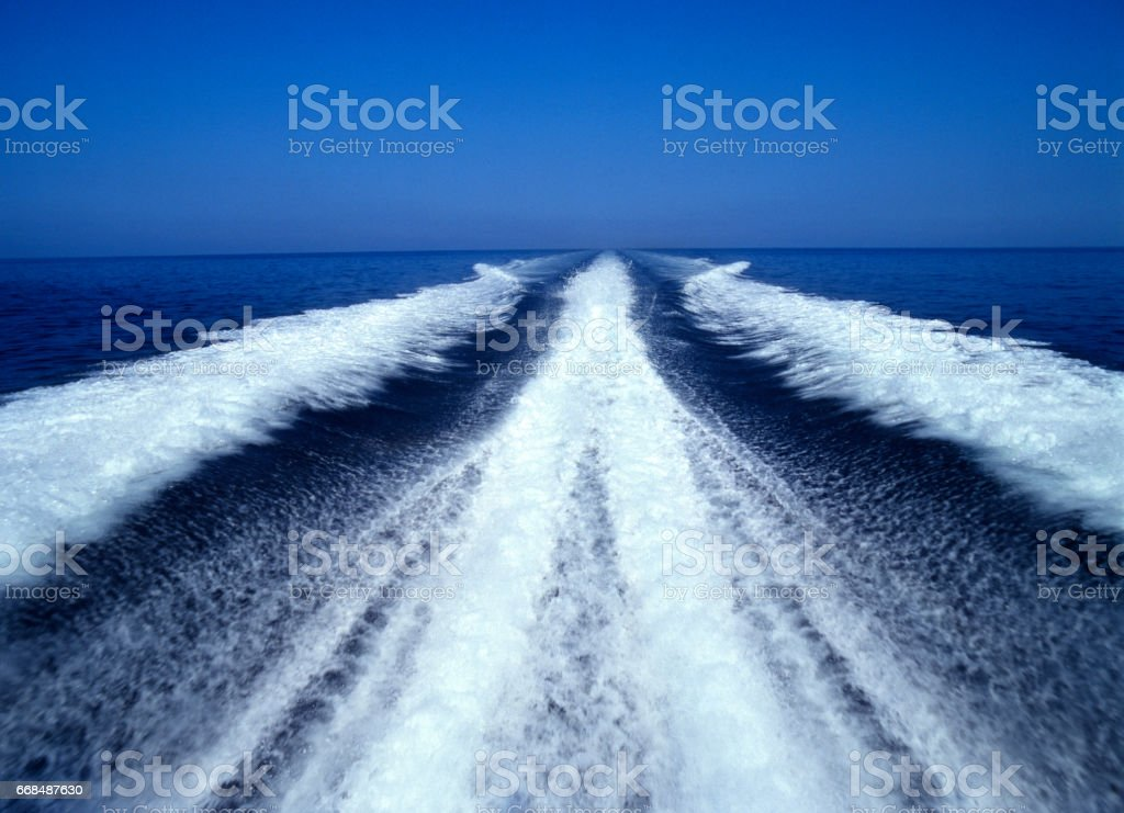Wave boats stock photo