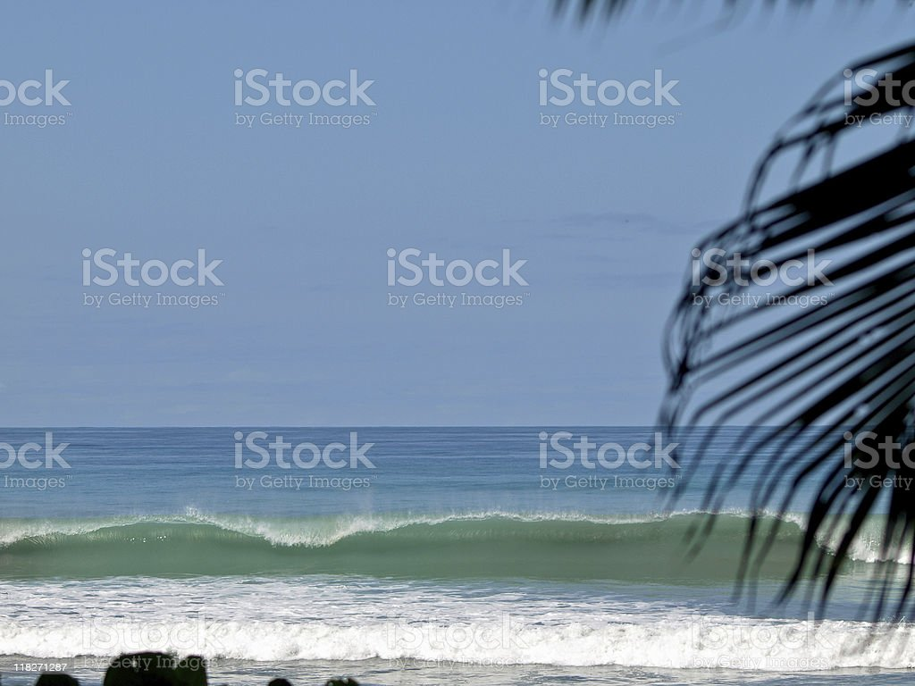 Wave breaking royalty-free stock photo