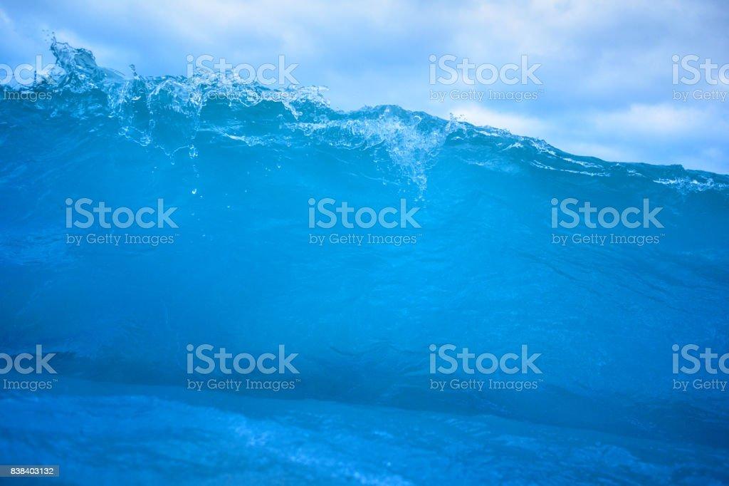 Wave close up stock photo
