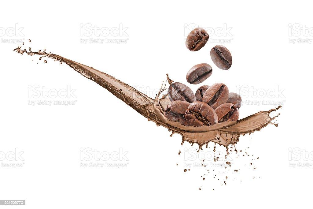 wave coffee splashing Lizenzfreies stock-foto