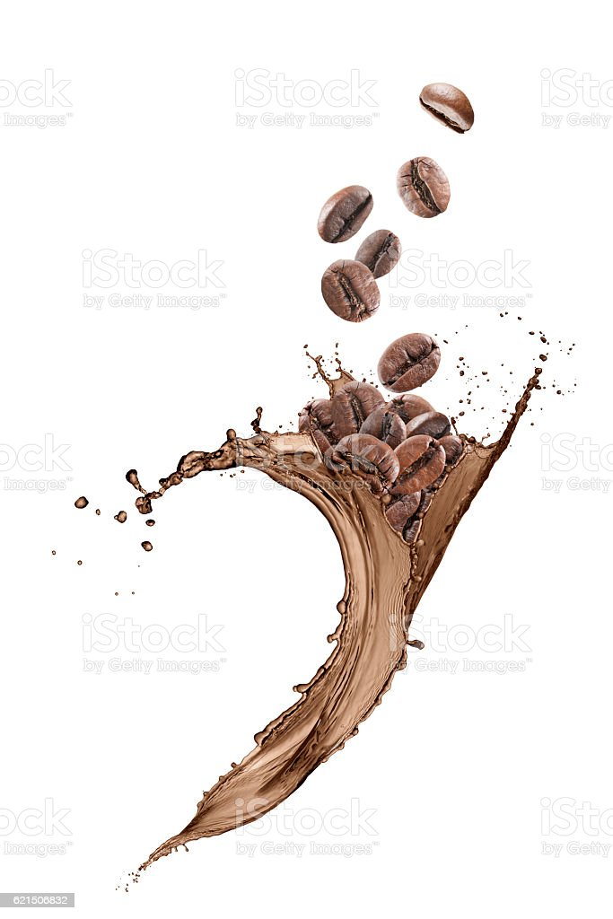 wave coffee splashing Lizenzfreies stock-foto