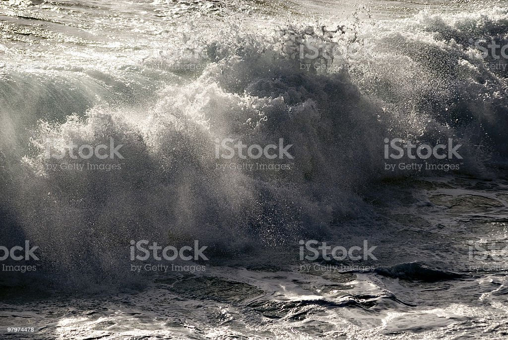 Wave crash royalty-free stock photo