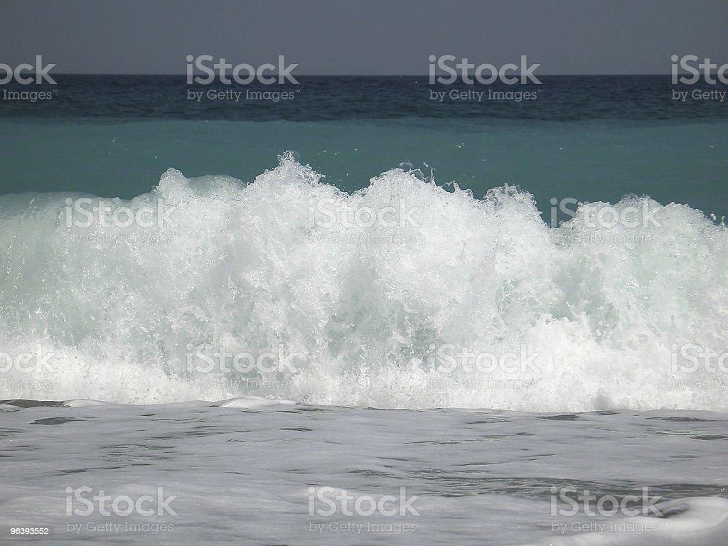 Wave Crashing on the Shore - Royalty-free Beach Stock Photo