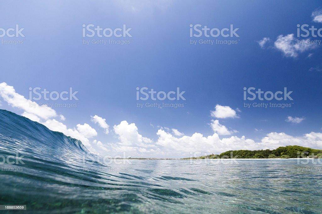 Wave crashing royalty-free stock photo