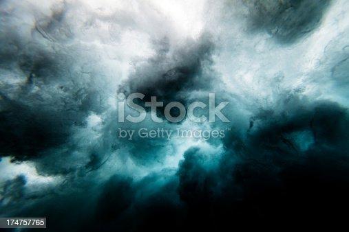 istock Wave crashing underwater 174757765