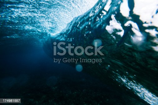 istock Wave crashing underwater 174981557