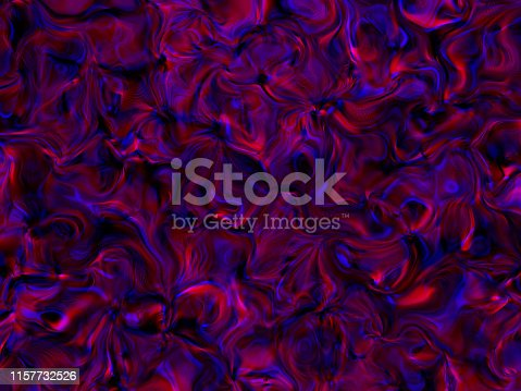Wave Dark Red Blue Flame Gas Bubble Glass Abstract Pattern Colorful Background Glowing Aura Texture Fractal Art Computer Graphic