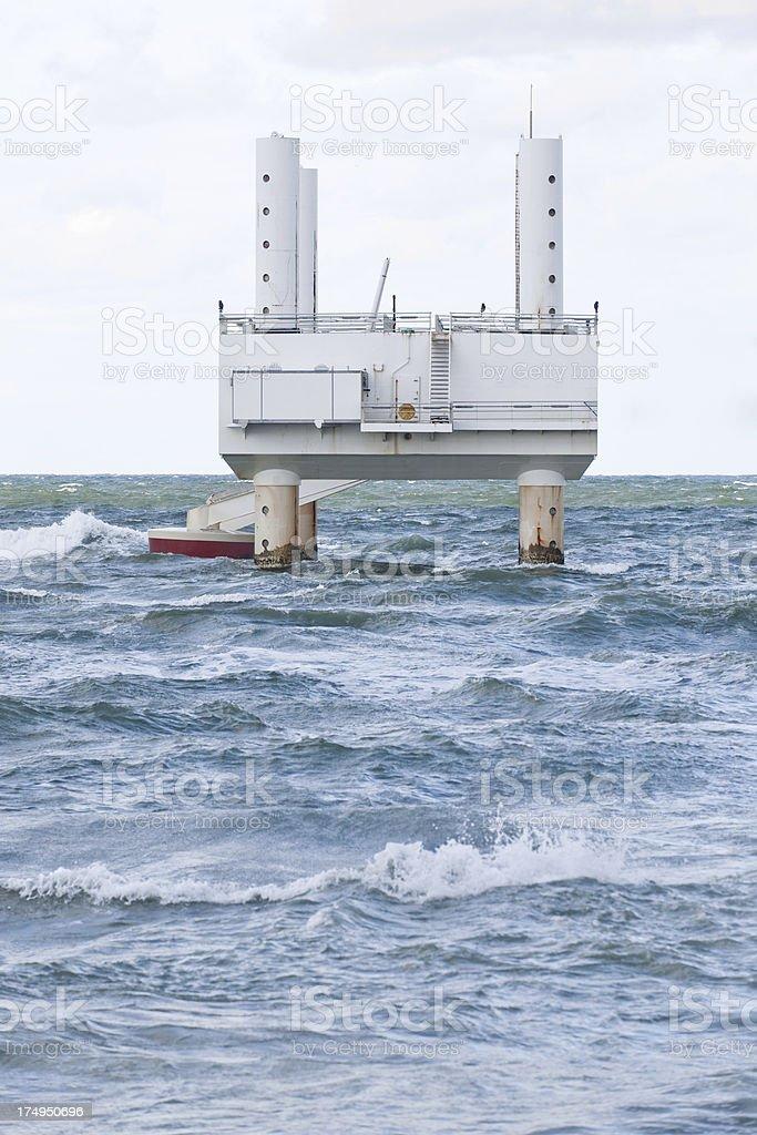 Wave energy machine stock photo