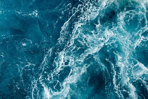 ocean waves of the adriatic sea in croatia