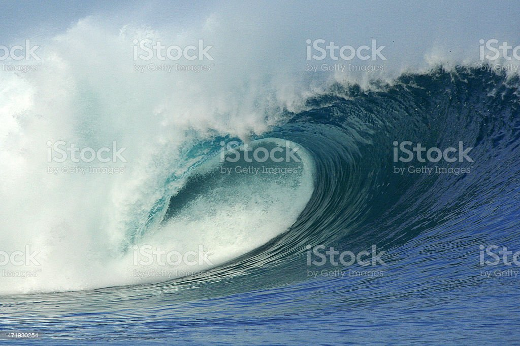 Wave in Indonesia stock photo
