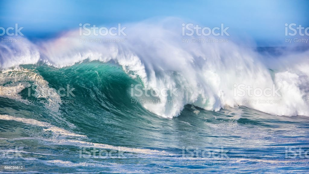 Wave in Pacific Ocean stock photo