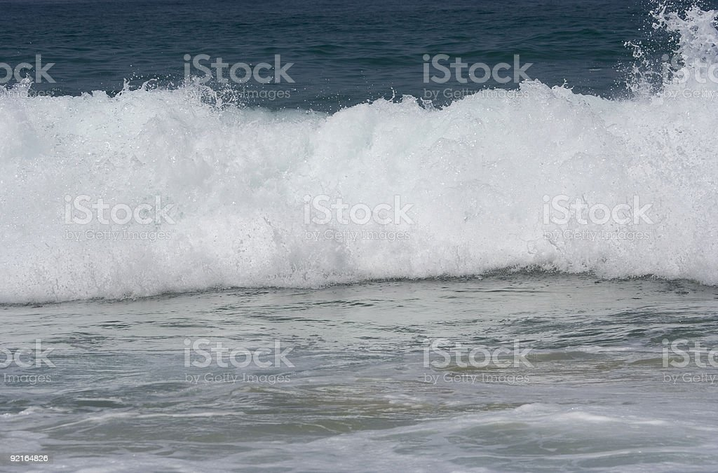 wave in the atlantic ocean royalty-free stock photo