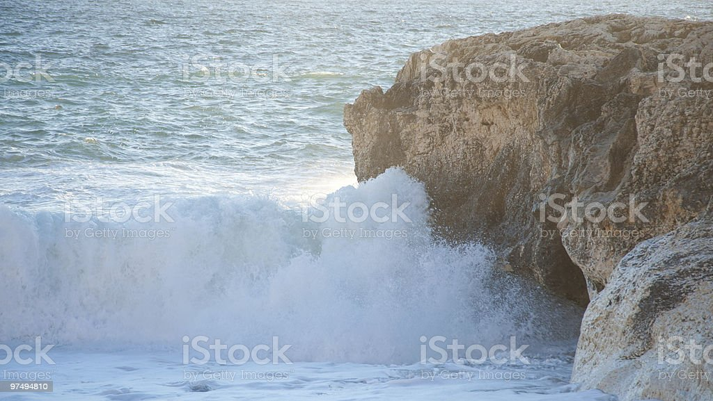 Wave in the Sunset royalty-free stock photo