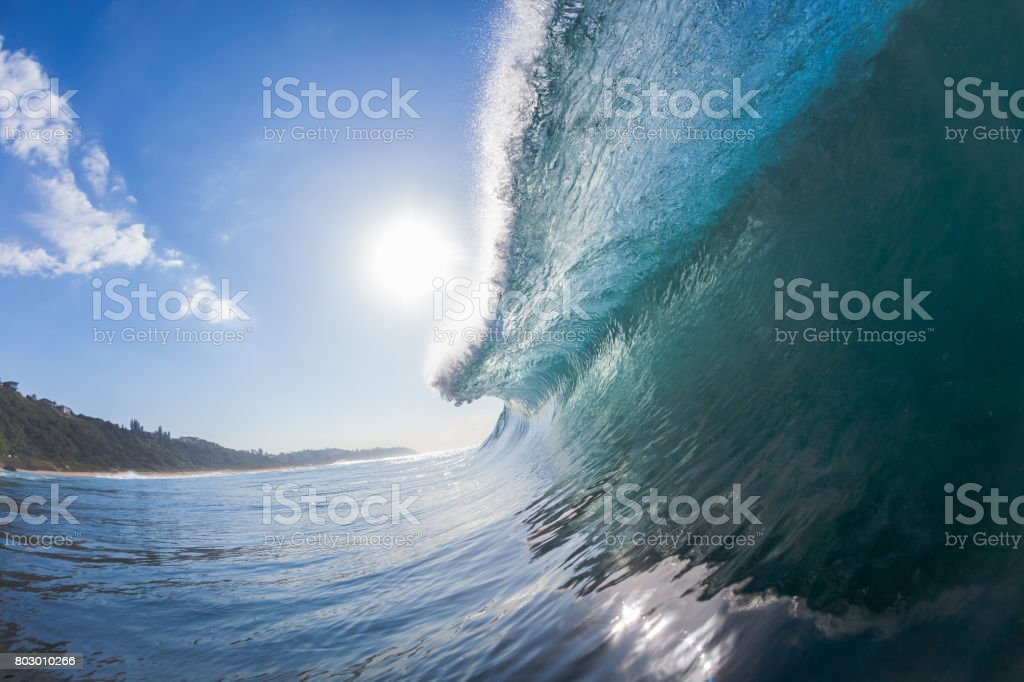 Wave Inside Hollow Water stock photo