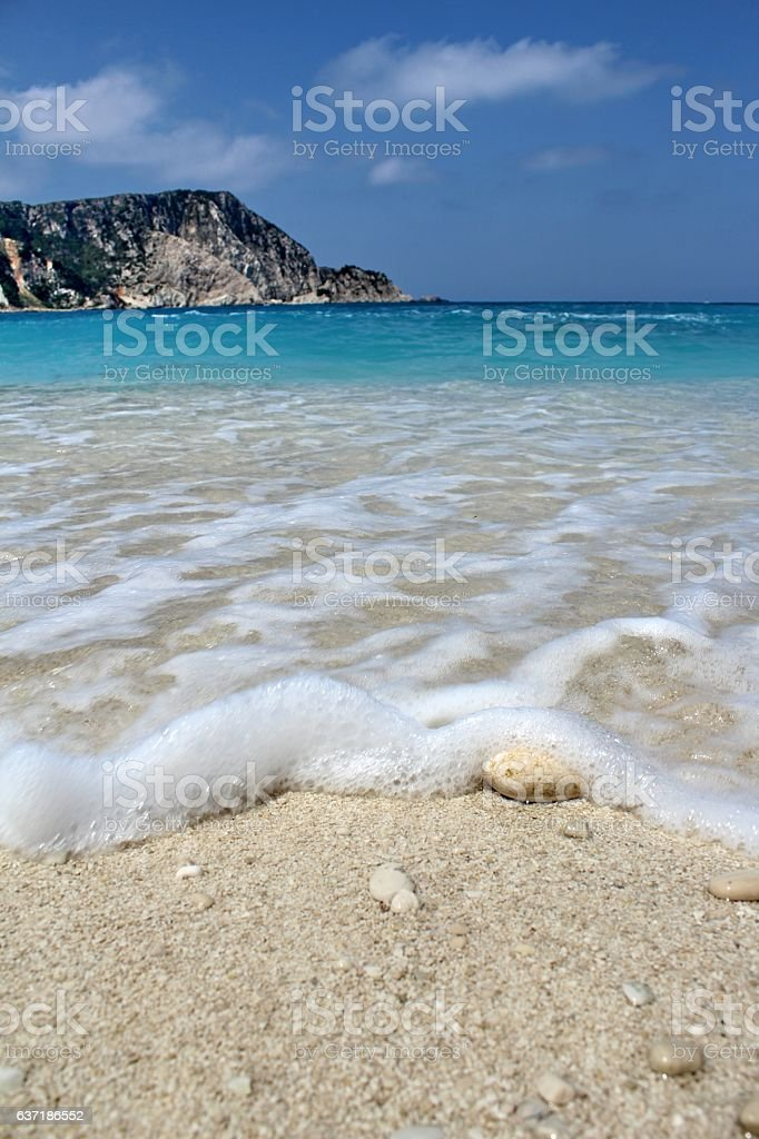 Wave is arriving stock photo