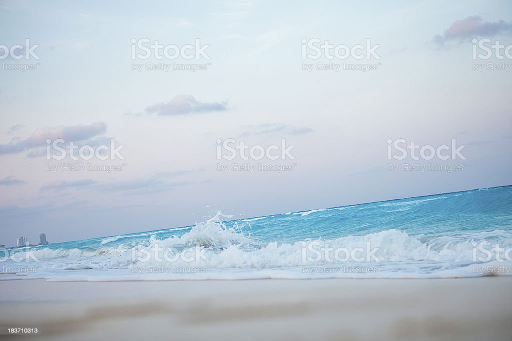 Wave of blue ocean stock photo