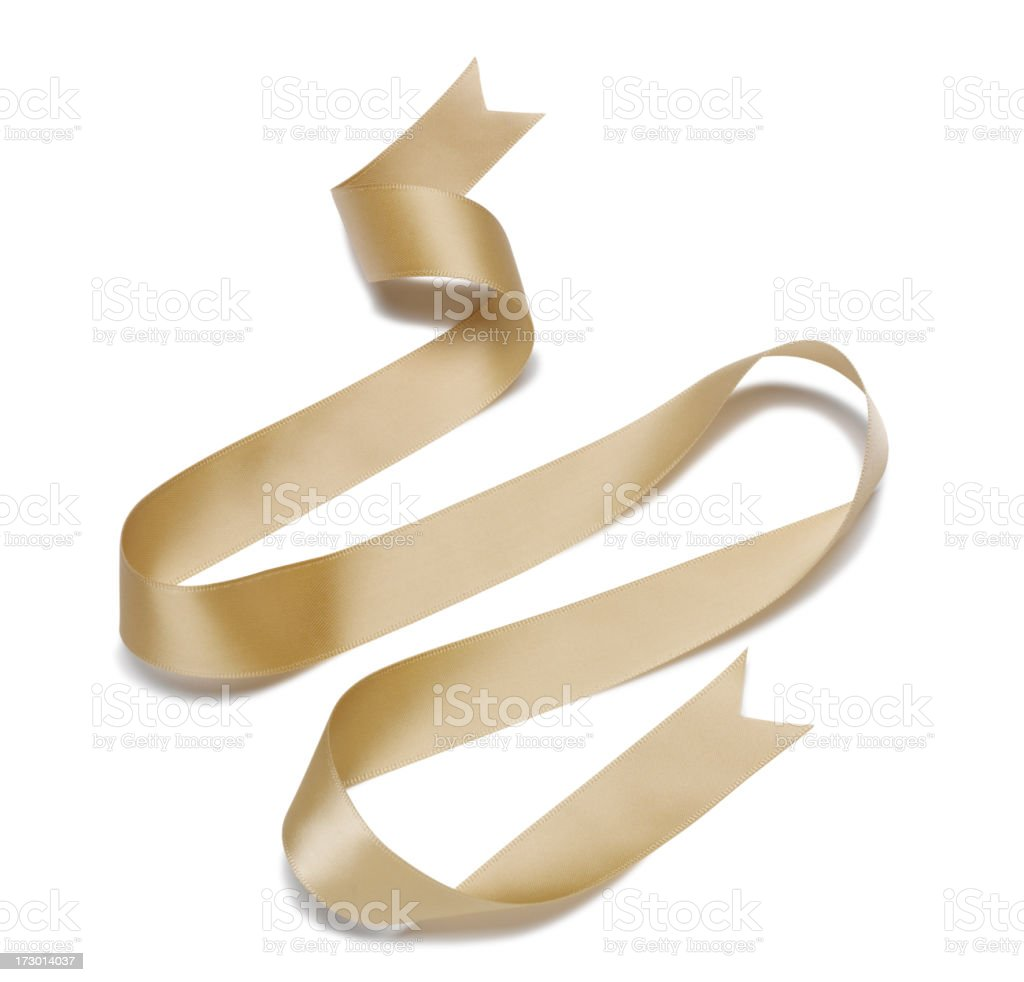 Wave of Gold Ribbon royalty-free stock photo