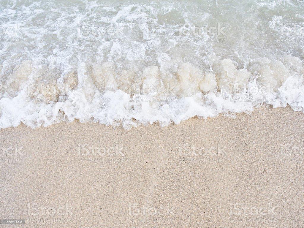 Wave of Lanikai Beach stock photo