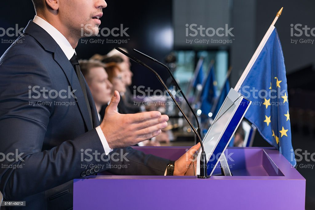 Wave of refugees is our real problem... stock photo