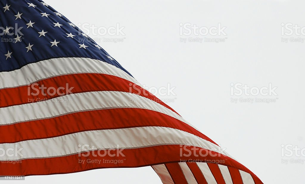 Wave of the Flag royalty-free stock photo