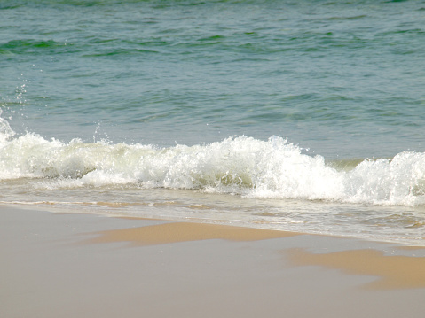 Wave Of The Sea On The Sand Beach Stock Photo - Download Image Now
