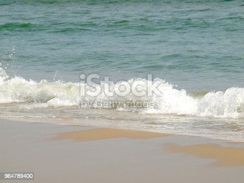 Wave Of The Sea On The Sand Beach Stock Photo & More Pictures of Beach