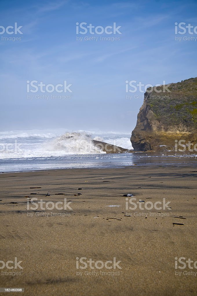 Wave on a Beach royalty-free stock photo