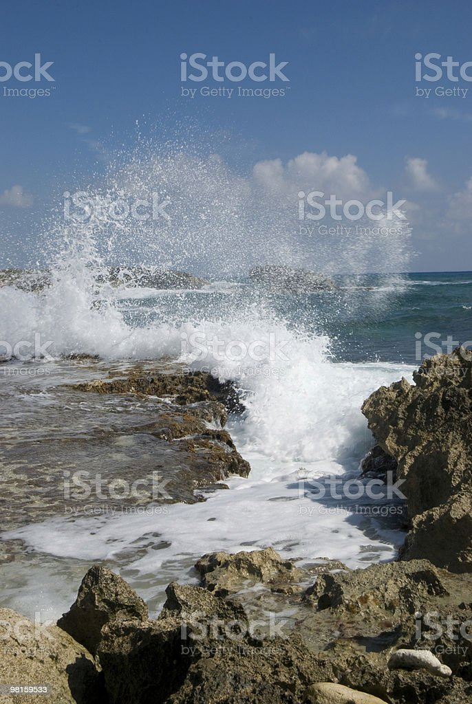 Wave on Cozumel Beach royalty-free stock photo
