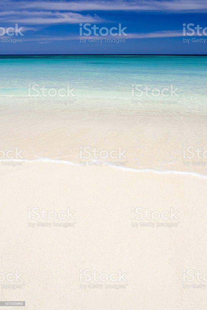 Wave on tropical caribbean beach royalty-free stock photo