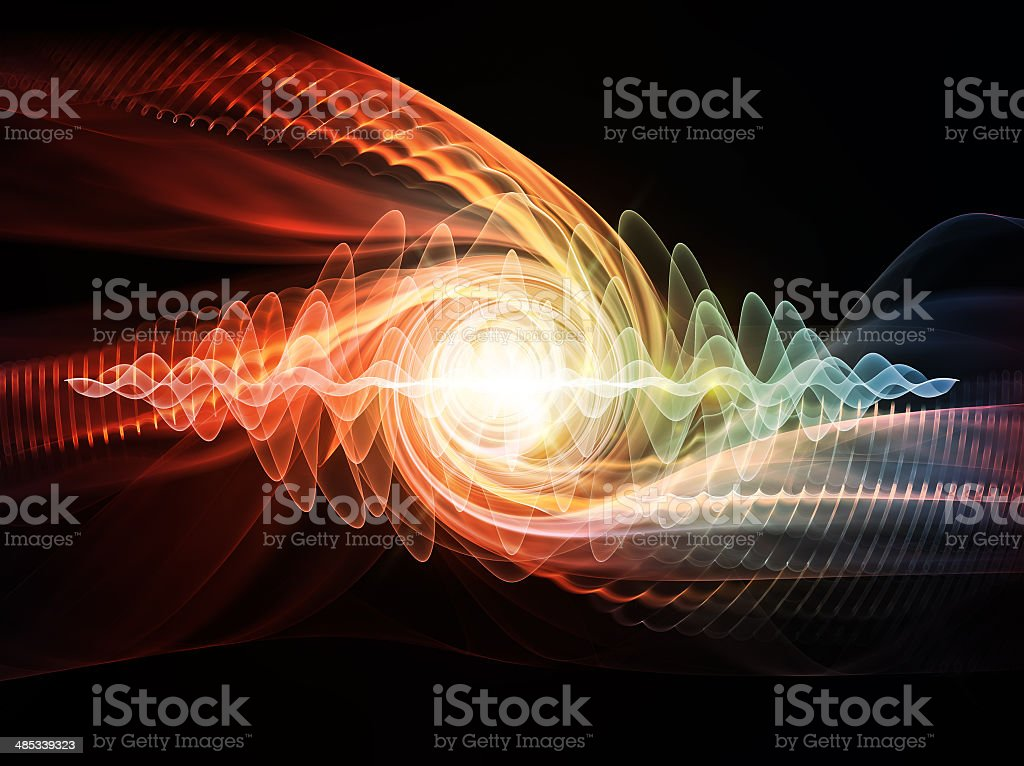 Wave Particle stock photo