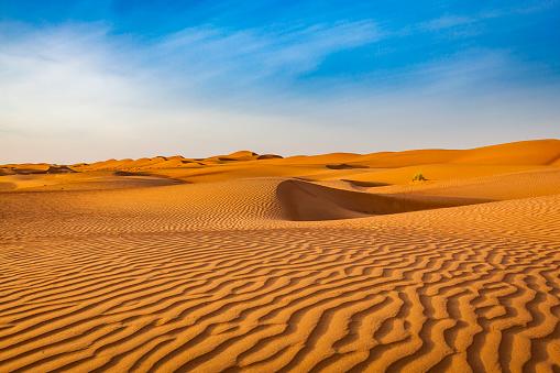 desert landscape in oman.