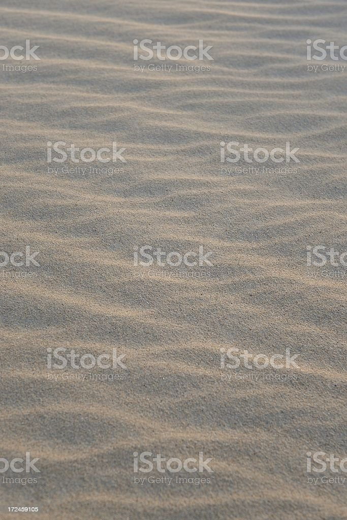 Wave pattern in sand royalty-free stock photo