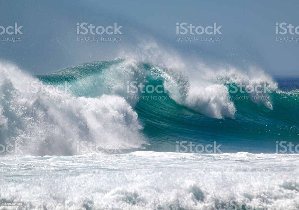wave powerful wave breaking 2015 Stock Photo