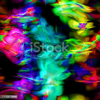 Wave Rainbow Colors Freak Psychedelic HD - seamless high resolution and quality pattern tile for 2D design and 3D as background or texture for objects - ready to use.
