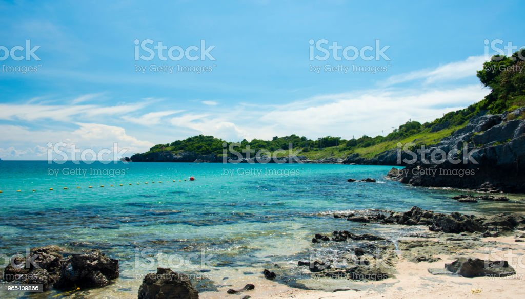 Wave & Sand beach background , holiday or relax in summer concept. royalty-free stock photo