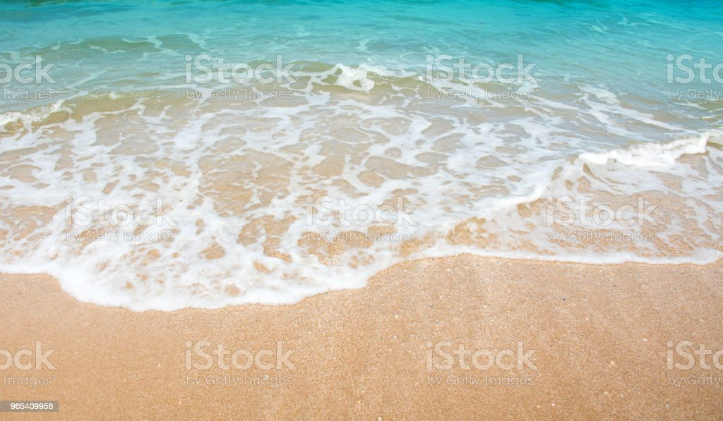 Wave & Sand beach background , holiday or relax in summer concept. zbiór zdjęć royalty-free