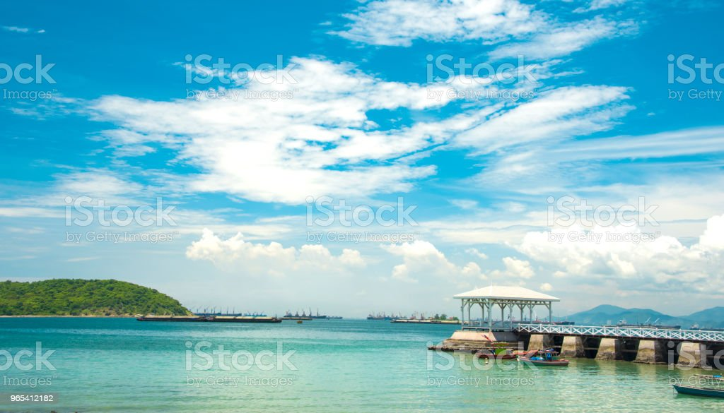 파도 및 모래 해변 배경, 휴가 또는 여름 개념에 휴식. - 로열티 프리 계절 스톡 사진