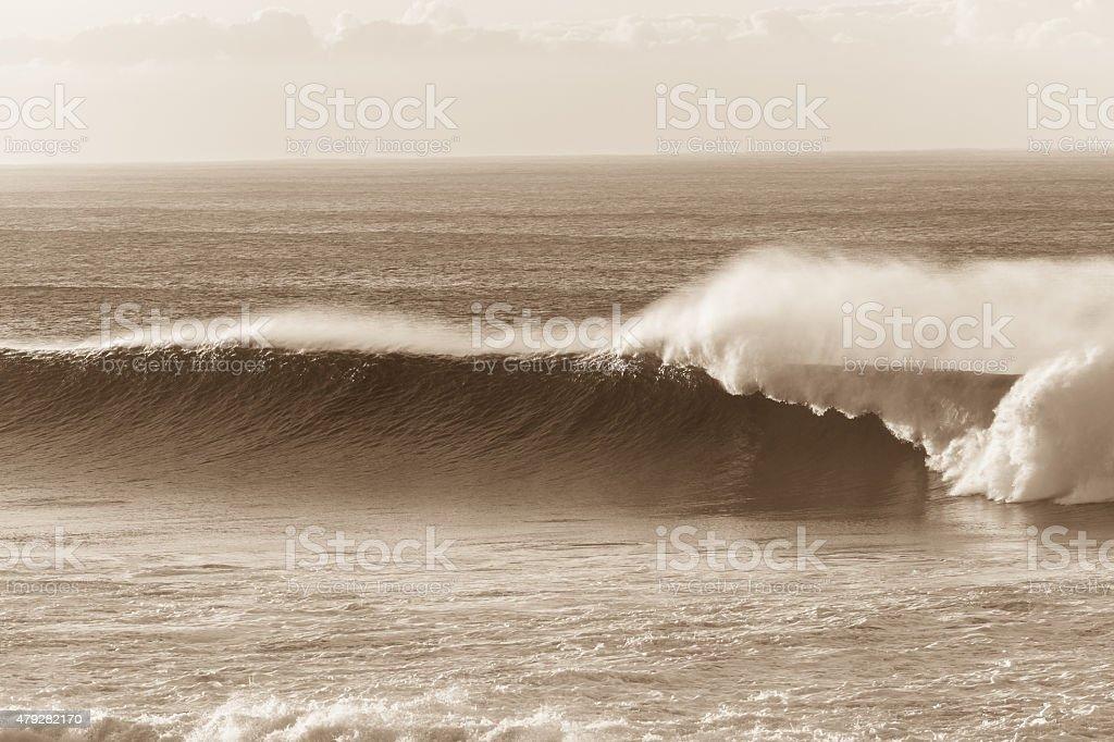 Wave Sepia stock photo
