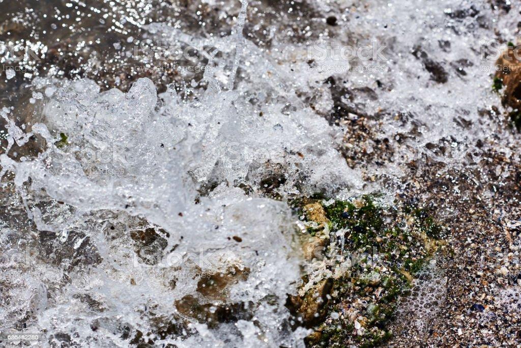 wave spashing background stock photo