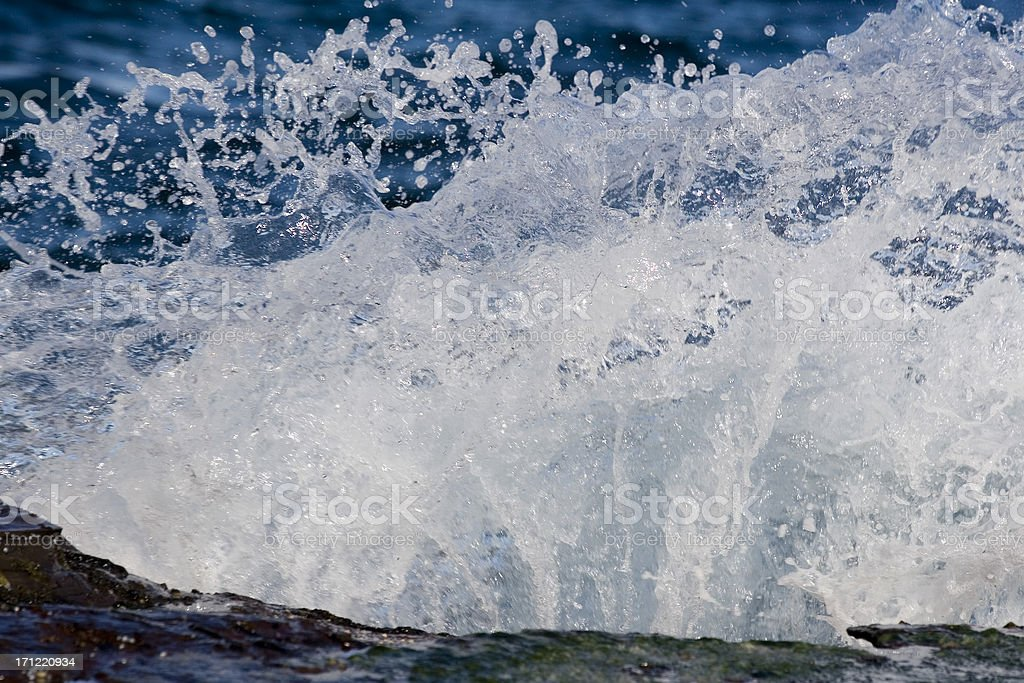 Wave splash detail royalty-free stock photo