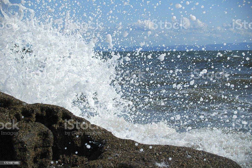 wave splash royalty-free stock photo