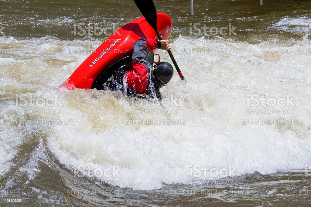 Wave Sport Kayak in a Roll royalty-free stock photo