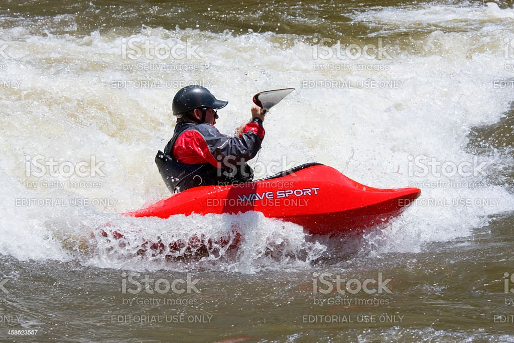 Wave Sport Kayak royalty-free stock photo